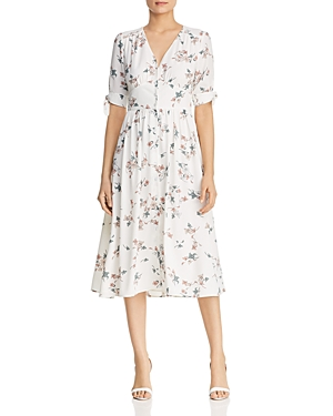 1.state Floral-Print Button-Front Dress