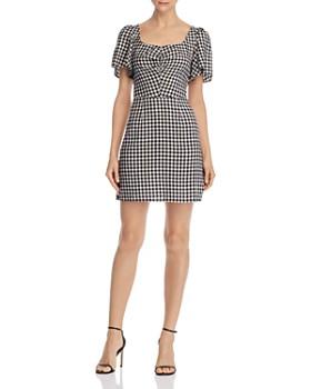 leRumi - Violet Smocked Gingham Mini Dress