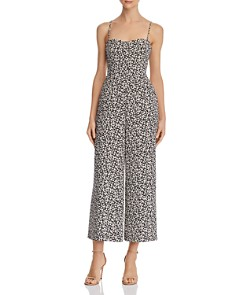 FRENCH CONNECTION - Cropped Tie-Back Floral-Print Jumpsuit