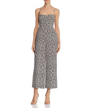 08a0eff8d841 FRENCH CONNECTION - Cropped Tie-Back Floral-Print Jumpsuit ...