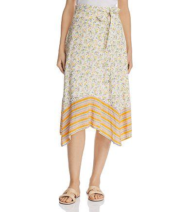 Lost and Wander - Marilyn Mixed-Print Floral Midi Skirt