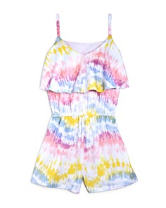 Mini Series - Girls' Tie-Dyed Flutter Romper, Little Kid - 100% Exclusive
