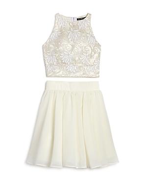 Miss Behave Girls' 2-Piece Lace Tank & Skirt Set - Big Kid