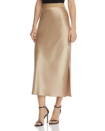 83d2f8d3c87fe1 Theory Satin Column Skirt | Bloomingdale's