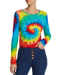 Alice and Olivia - Delaina Tie-Dye Cropped Top