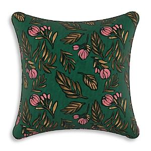 Sparrow & Wren Debris Floral Emerald Down Pillow, 20 x 20