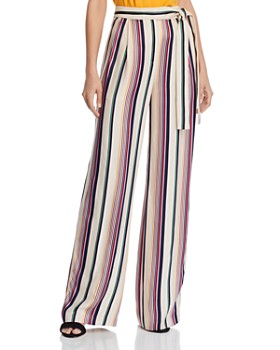 KAREN MILLEN - Striped Wide-Leg Pants - 100% Exclusive