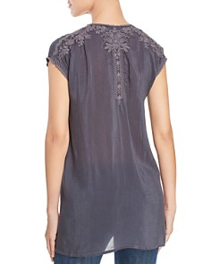 Johnny Was - Heidi Embroidered Cap-Sleeve Tunic
