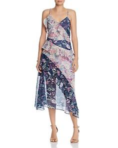 AQUA - Mixed Floral Midi Dress - 100% Exclusive