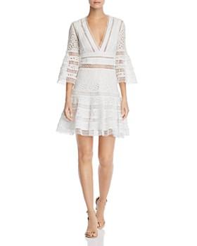 2a064b11 AQUA - Bell-Sleeve Eyelet & Lace Dress - 100% Exclusive ...
