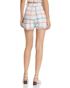 WAYF - Matera High-Rise Plaid Shorts