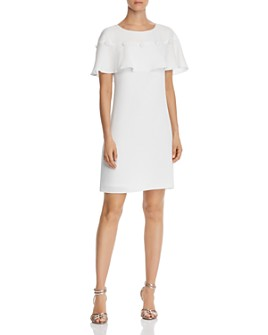 Adrianna Papell - Cameron Flounced-Overlay Dress