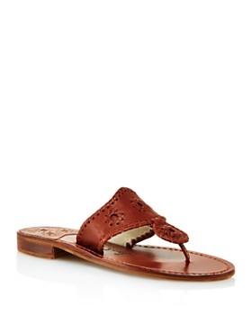 763d46f470e40 Jack Rogers - Women s Natural Jacks Leather Thong Sandals ...