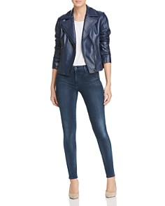 Elie Tahari - Angalie Leather Moto Jacket