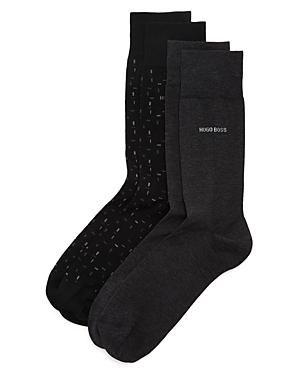 Boss Hugo Boss Socks CALF-HEIGHT SOCKS - PACK OF 2