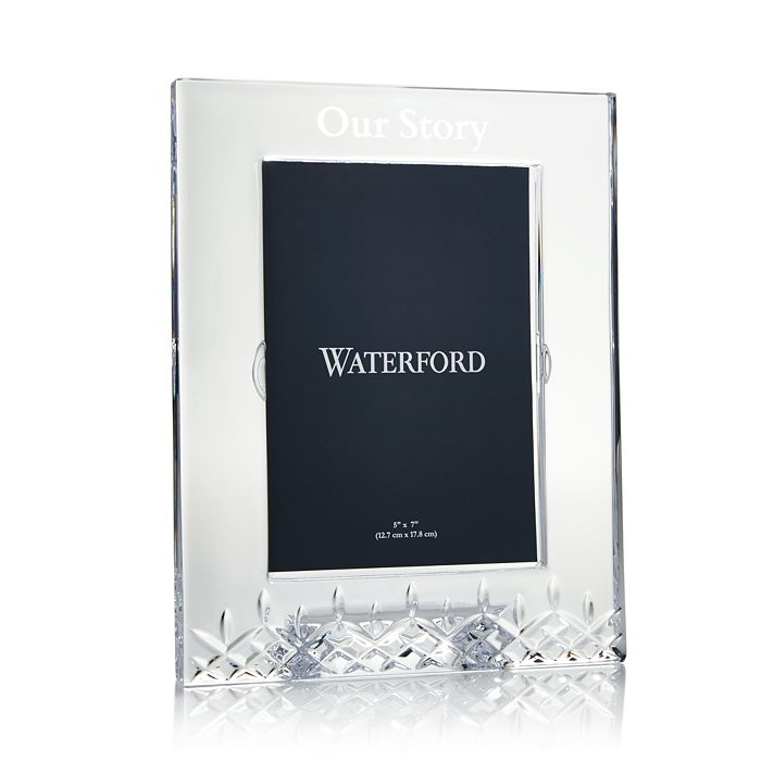 """Waterford - Our Story Lismore Essence Crystal Frame, 5"""" x 7"""" - 100% Exclusive"""