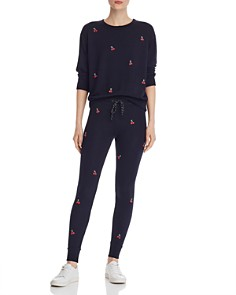 Sundry - Cherries Embroidered Sweatshirt