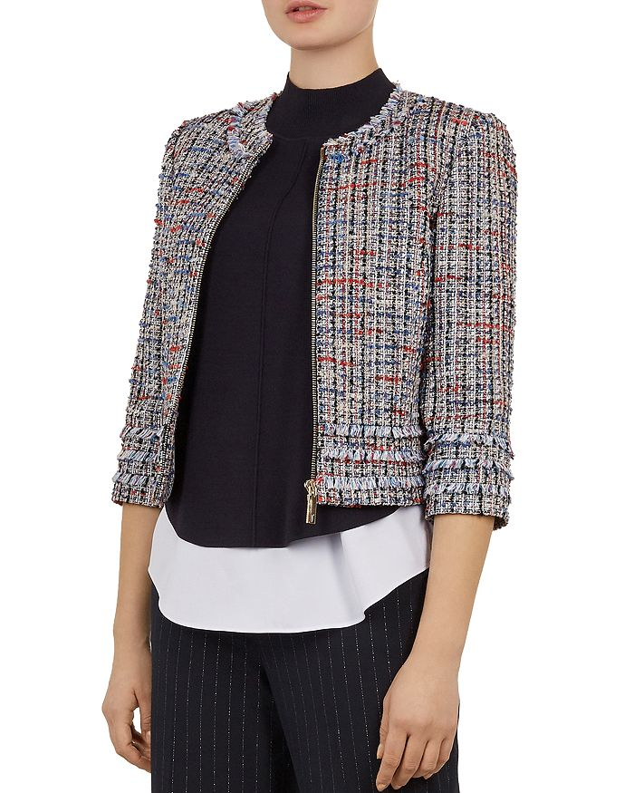 Ted Baker - Working Title Yuliete Cropped Bouclé Jacket