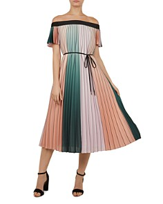 Ted Baker - Fernee Pleated Color-Block Dress