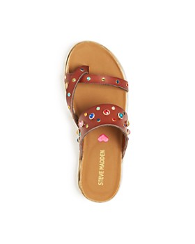 5e6a7cc18934 ... STEVE MADDEN - Girls  Sleuth Embellished Slide Sandals - Little Kid