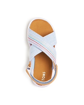 TOMS - Girls' Viv Striped Crosscross Slingback Sandals - Baby, Walker, Toddler
