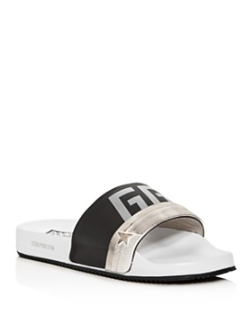 Golden Goose Deluxe Brand - Men's Poolstar Distressed Slide Sandals