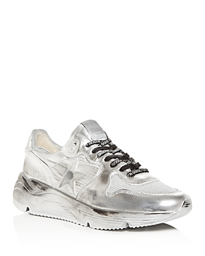 Golden Goose Deluxe Brand Men's Distressed Leather Low-Top Sneakers