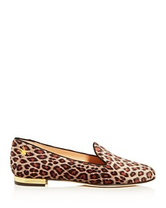 Charlotte Olympia - Women's Nocturnal Leopard-Print Smoking Slippers