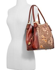 COACH - Edie Signature Canvas Prairie Floral Print Shoulder Bag