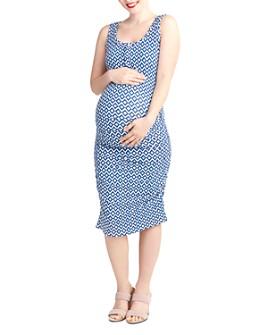 Nom Maternity - Sleeveless Snap-Front Dress