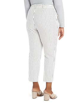 1.STATE Plus - Striped Tapered-Leg Pants