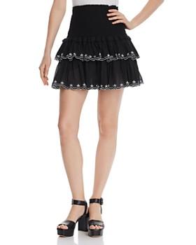 384da77650 AQUA - Smocked Embroidered Mini Skirt - 100% Exclusive ...