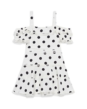 Bardot Junior - Girls' Isola Polka-Dot Cold-Shoulder Dress - Little Kid