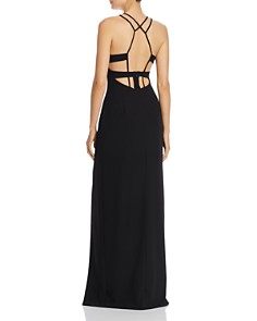 Aidan by Aidan Mattox - Cage-Back Crepe Gown