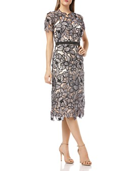 JS Collections - Laser-Cut Lace Dress