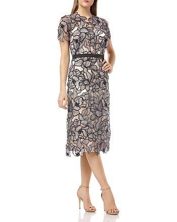 JS Collections - Laser-Cut Lace Dress