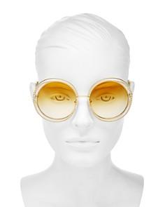 Chloé - Women's Carlina Oversized Round Sunglasses, 58mm