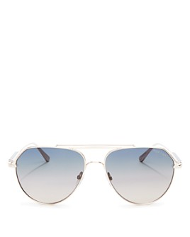 Tom Ford - Women's Andes Brow Bar Aviator Sunglasses, 61mm