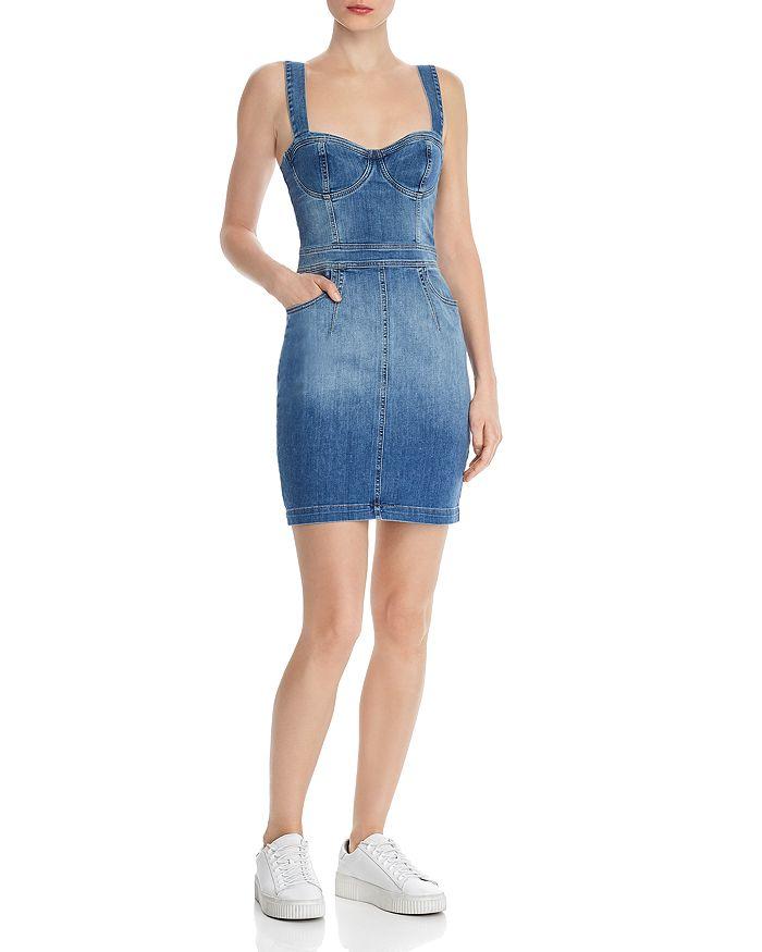 851e1ca356 GUESS - Gia Denim Bustier Dress
