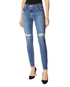 J Brand - Maria High-Rise Skinny Jeans in Motion