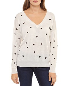 Theo & Spence - Heart Print Sweater