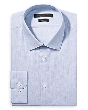 John Varvatos Dresses MELANGE PRINT SOLID SLIM FIT DRESS SHIRT