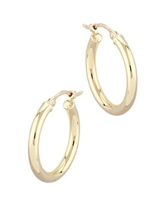 Bloomingdale's - Small Tube Hoop Earrings in 14K Yellow Gold - 100% Exclusive
