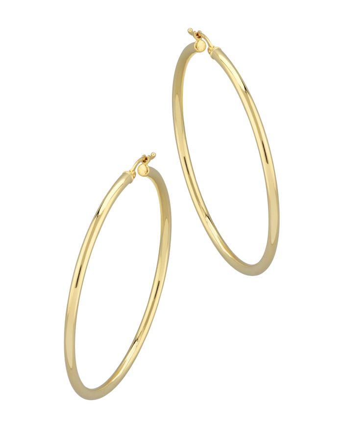 Bloomingdale's Tube Hoop Earrings in 14K Yellow Gold - 100% Exclusive    Bloomingdale's