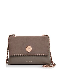 Ted Baker - Sultane Studded Leather & Suede Crossbody