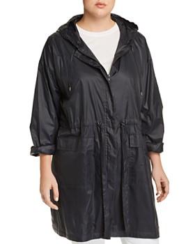 a02307c086a Eileen Fisher Plus - Lightweight Hooded Jacket ...