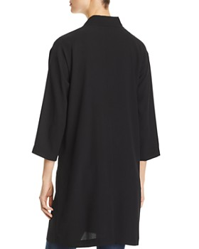 Eileen Fisher Petites - Silk Long Open Jacket