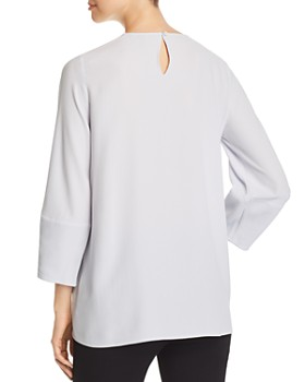 5da021c8064cc9 ... Eileen Fisher - Lantern-Sleeve Silk Tunic