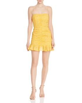 Bec & Bridge - Marigold Fields Ruched Mini Dress