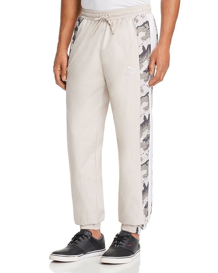 PUMA - Wild Pack Leopard Camouflage-Striped Track Pants